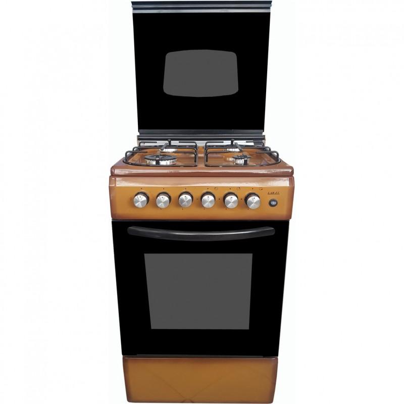 Cucina Larel 50x50 4 F Marrone Coperchio Vetro
