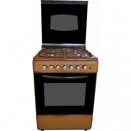 CUCINA LAREL 60X60 - 4 F - MARRONE - FORNO ELETTRICO MULTIFUNZIONE - COPERCHIO VETRO - ACC. ELETTR.